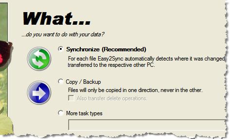 sync task type